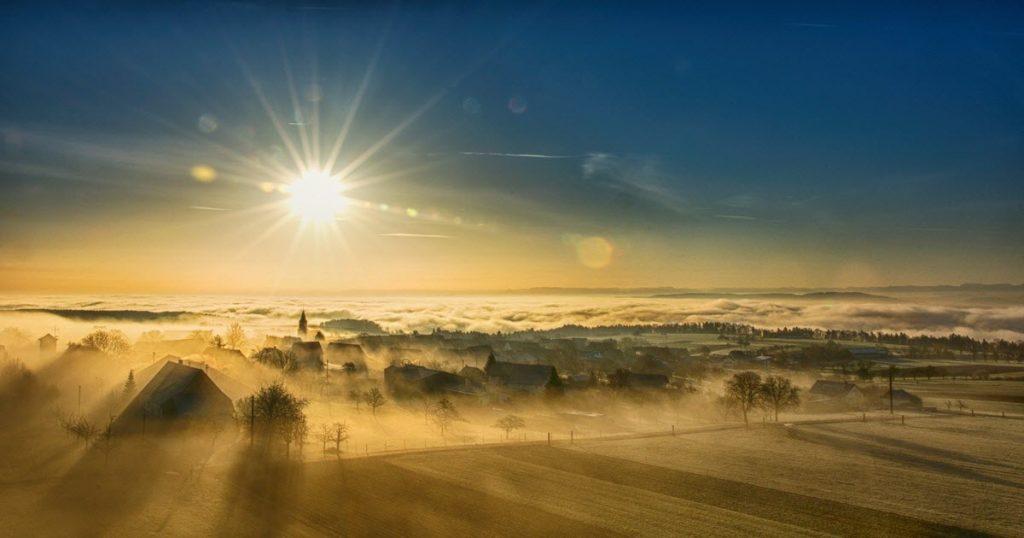 Zuversicht wird durch Nebel gedämpft