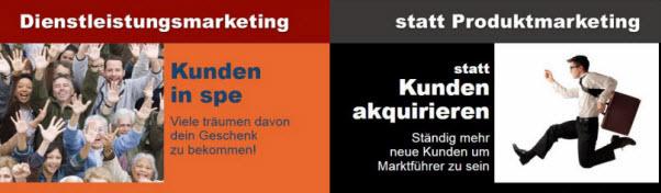 Kundenakquise: Dienstleistungen versus Produkte