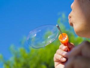 Seifenblasen-loslassen